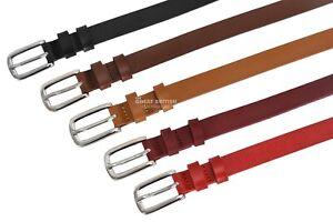 LADIES LEATHER BELT 20mm Pin Buckle Casual Dress Waistband Waist Strap Jean Belt