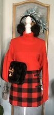 NWT Red Black Plaid Mini Skirt Size S