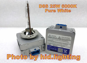 D8S 25W 6000K White Xenon Global HID Light Bulb MY15 16 FORD Mustang Tesla lamp
