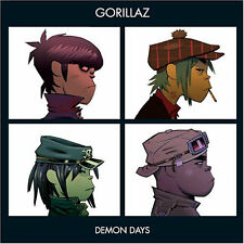 "GORILLAZ "" DEMON DAYS "" NEW UK LP RE-ISSUE ** COLOURED VINYL"