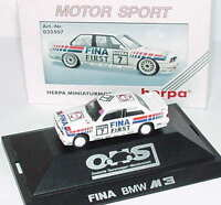 1:87 BMW M3 E30 DTM 1992 Fina First Nr.7 Johnny Cecotto - herpa 035507