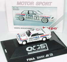 1:87 BMW M3 E30 DTM 1992 FINA Première n°7 JOHNNY CECOTTO - Herpa 035507