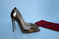 sz 6 / 36.5 Christian Louboutin Pigalle Follie Metallic Pointed Toe Pump Shoes