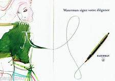 PUBLICITE ADVERTISING 056  2003  Waterman stylos plume ( 2p)  élégance