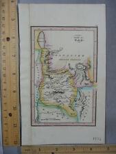 Rare Antique Original VTG Leavitt Lord & Co 1836 Tribe Of Gad Map Engraved Print