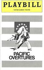 STEPHEN SONDHEIM-PACIFIC OVERTURES-1976 OPENING NIGHT PLAYBILL WINTER GARDEN