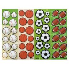 96 SPORTS BALLS STICKERS - KIDS SCHOOL STATIONERY PARTY BAG FILLER ARTS & CRAFTS