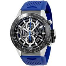 TAG Heuer Men's Carrera 45mm Blue Rubber Band Automatic Watch CAR2A1T.FT6052