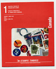 Weeda Canada 1994 Jan-Mar Quarterly Pack, sealed! Face value $8.08, pristine