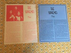 THE SUPREMES PRESS RELEASE TAMLA MOTOWN 1973 ORIGINAL DOCUMENTS VGC