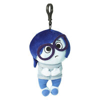 Disney Inside Out Sadness Zippered Clips 8 Inch Plush Figure NEW Toys Movie