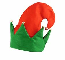 ELF Hat, Red/Green with Jingling Bells Xmas Unisex Hat Christmas celebrations