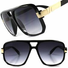 Hip Hop Rapper Rich Famous Millionaire Swag Mens Womens Black Square Sun glasses