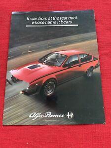 It was born at the Test Track Alfa Romero GTV 6 original brochure good