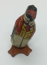 Vintage J Chein Tin Wind Up Toy Walking Penguin Circa 1940s