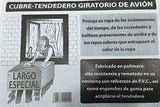 Cubre Tendal Avion Largo, Medidas 1,60X1,60, Color Transparente