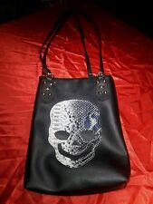Skull Purse by Jing Pin handbag tote ladies green velvet unique