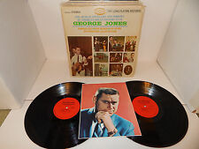 GEORGE JONES STORY 1968 Musicor with Photo complete G/F Super Clean Double 2 LP