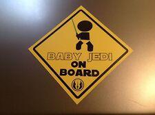 Baby on Board Star Wars 'Baby Jedi on Board'   Waterproof vinyl car Sticker