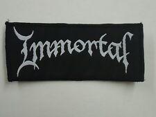 IMMORTAL LOGO BLACK METAL WOVEN PATCH