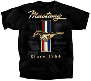 Ford Tri-Bar Mustang T Shirt Officially Licensed