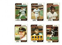 1974 Topps Baseball - 23-card San Francisco Giants lot - Set Break!