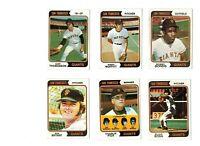 1974 Topps Baseball - 23-card San Francisco Giants lot - Set Break!