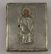Rusia 84 plata oklat pictóricos icono hl. Mikhail
