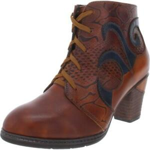 Spring Step Womens Neasa Brown Ankle Boots Shoes 35 Medium (B,M) BHFO 2621