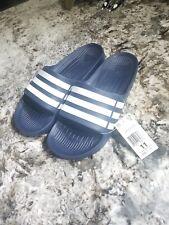 Adidas Duramo Slide Sandals - Navy/White Shower Sandals Men's Size 11 Brand New