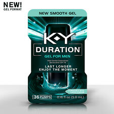 K-Y Duration Gel for Men - Last Longer & Enjoy The Moment, 36 pumps 0.16 oz