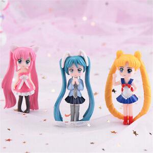 Long Hair beauty figurine Cake Decoration Fairy Garden Miniatures kids Gifts LZ