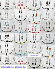 PERU JEWELRY 40 EARRINGS BRACELETS GLASS HANDMADE WHOLESALE LOT PERUVIAN ARTWORK