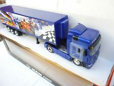 1:43 DIECAST MAN  TRUCK & RACING TRAILER  BY NEW RAY NEW OVP RARE!!!
