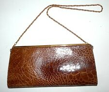 BORSA VERA PELLE originale vintage anni 50 leather bag sac modernariato