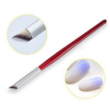 1Pc Nail Brush Wood Handle Angle Nail Art Gradient Dizzy Dye Design Brush DIY