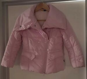Girls  Pink Collar Quilted Padded Puffer Warm Tweety Pie Coat 8