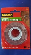 3M Scotch #4011  Permanent Outdoor Mounting Tape holds upto 5lbs, GREAT SALES