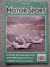 Motor Sport (July 1989) British GP, Le Mans,Peugeot 405 Mi-16, Renault 21,BMW M3