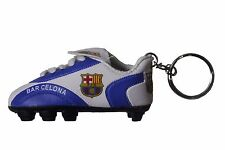 FC BARCELONA LOGO WHITE BLUE FIFA  Soccer  SHOE Cleat KEYCHAIN .. NEW