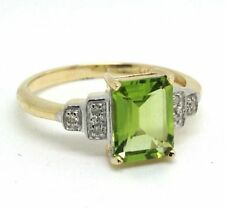 Emerald Solitaire with Accents Not Enhanced Fine Gemstone Rings