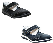 WOMENS LEATHER STRAP WALKING MARY JANE SUMMER LADIES COMFY SANDALS CASUAL SHOES