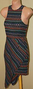 Womens Gorgeous Multi Colour Knit Dress - Talulah - Size XS