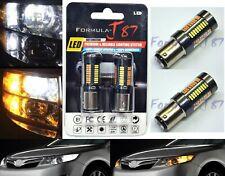 LED Switchback Light 4014 White Amber Orange 2357 Two Bulb Front Turn Signal Fit