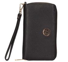 Michael Kors Fulton Large Leather Phone Case Wristlet Wallet Black