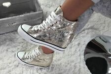 Keilabsatz Sneaker Sportschuhe Hidden Wedges GOLD *++++