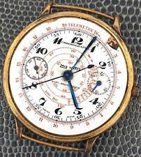 Zais Watch Chronographe Monopusher No Funziona 35,5 MM Watch Vintage Orologio
