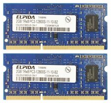 Elpida 2GB SO-DIMM 1600 MHz PC3-12800 DDR3 RAM EBJ20UF8BDU0-GN-F SLIGHTLY USED