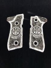 Beretta Fs92 96 Beretta Symbol Cachas Silver Plated 9mm 40. German Silver Grips