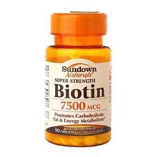 Sundown Naturals Super Strength Biotin 7500 mcg 75 Tablets